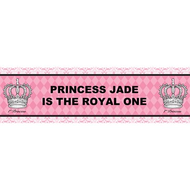 Elegant Princess Damask Personalized Vinyl Banner