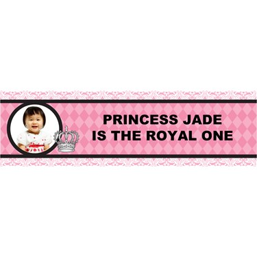 Elegant Princess Damask Personalized Photo Vinyl Banner