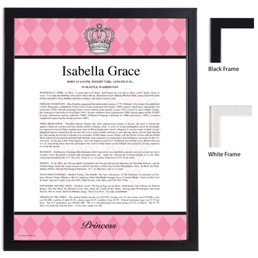 Elegant Princess Damask Keepsake Scroll