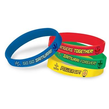Power Rangers Samurai Rubber Bracelets (4)