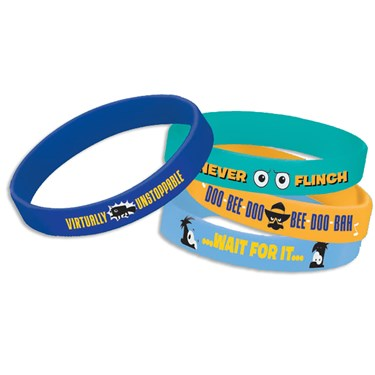 Disney Phineas and Ferb Rubber Bracelets