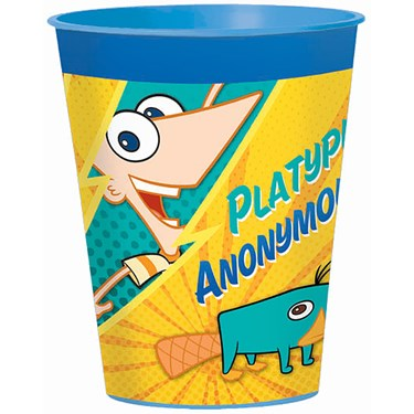 Disney Phineas and Ferb 16 oz. Plastic Cup