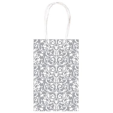Silver Brocade Party Bag