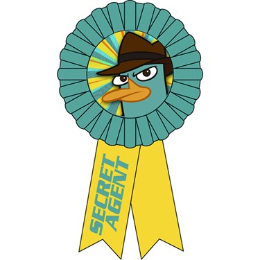 Disney Phineas and Ferb Agent P Award Ribbon
