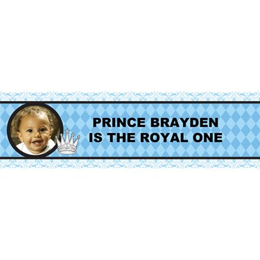 Elegant Prince Damask Personalized Photo Vinyl Banner