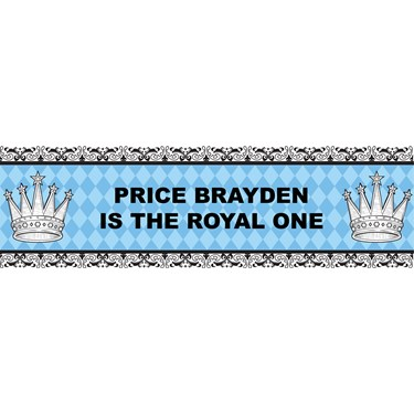 Elegant Prince Damask Personalized Banner