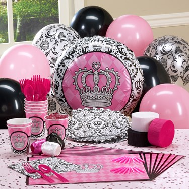 Elegant Princess Damask Personalized Party Theme