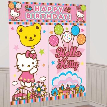 Hello Kitty Balloon Dreams Scene Setter Decoration Set
