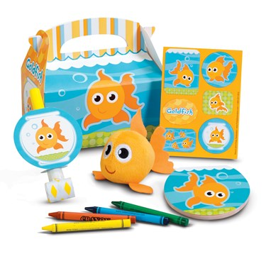 Goldfish Filled Party Favor Box