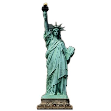 Patriotic Statue of Liberty Standup