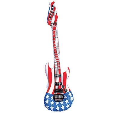 Inflatable Stars and Stripes Guitar