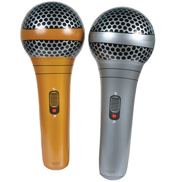 Inflatable Gold or Silver Microphone
