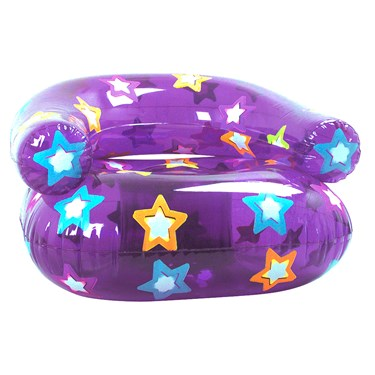 Inflatable Purple Star Chair