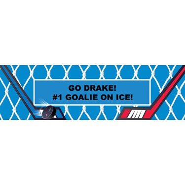 Hockey Personalized Vinyl Banner
