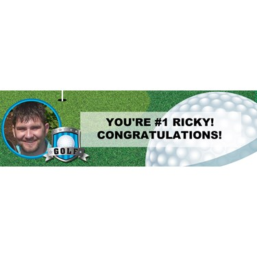 Golf Personalized Photo Banner
