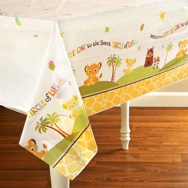 Disney Lion King Baby Shower Plastic Tablecover