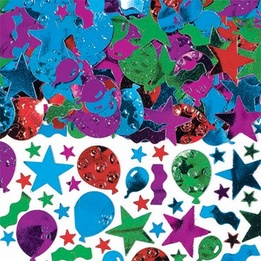 Balloon, Streamers and Stars Value Pack Confetti