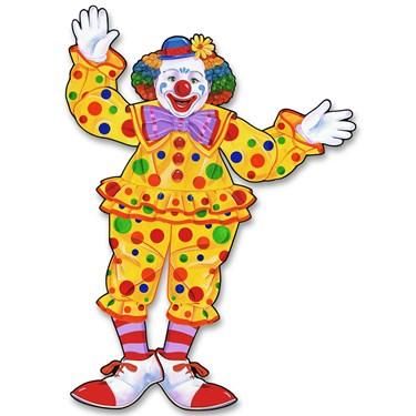 Jointed Circus Clown Cutout