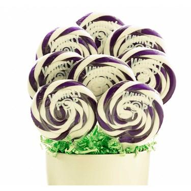 Purple and White Whirly Pop