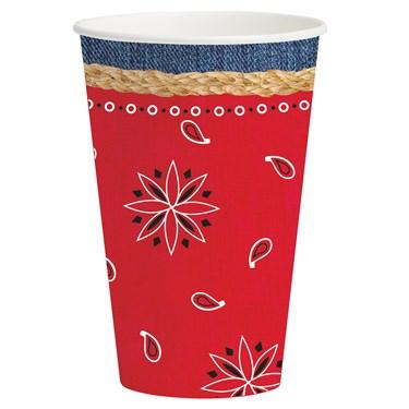 Western Bandanarama 12 oz. Paper Cups