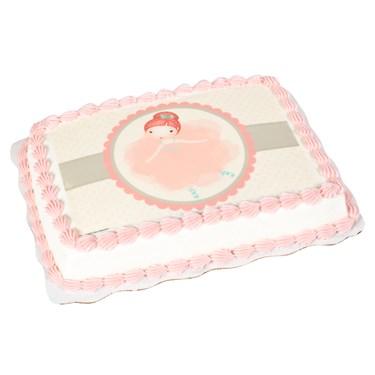 Ballerina Edible Icing Cake Topper