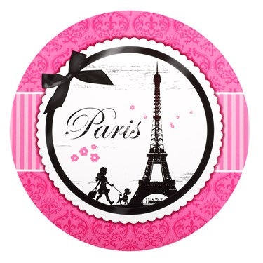 Paris Damask Round Activity Placemats (4)