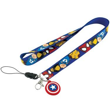 Captain America Lanyard Keychain