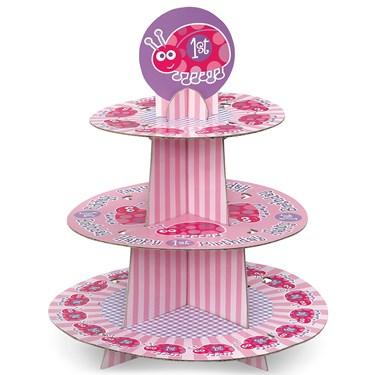 Ladybug 1st Birthday Cupcake Stand