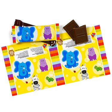 Safari Friends Small Candy Bar Wrappers