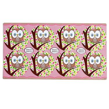 Pink Owl Large Lollipop Sticker Sheet