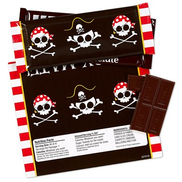 Pirates Large Candy Bar Wrappers