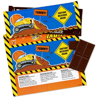 Construction Pals Large Candy Bar Wrappers
