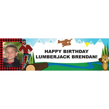 LumberJack Personalized Photo Banner