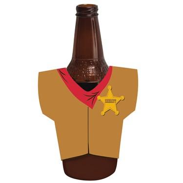 Cowboy Vest Bottle Koozie