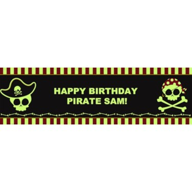 Little Buccaneer Glow in the Dark Personalized Vinyl Banner