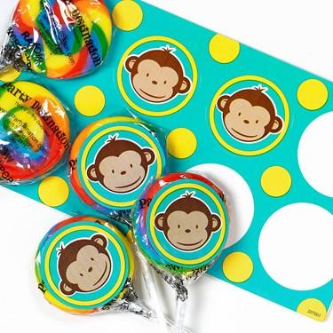 Mod Monkey Lollipop Favor Kit