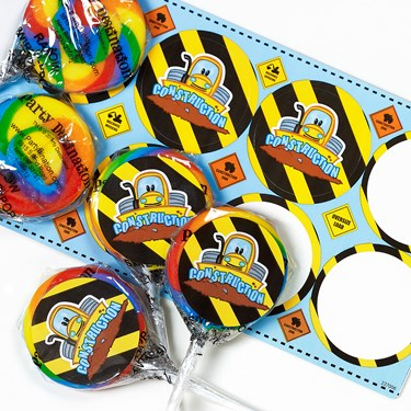 Construction Pals Small Lollipop Sticker Kit