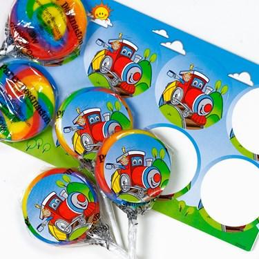 Transportation Small Lollipop Sticker Kit