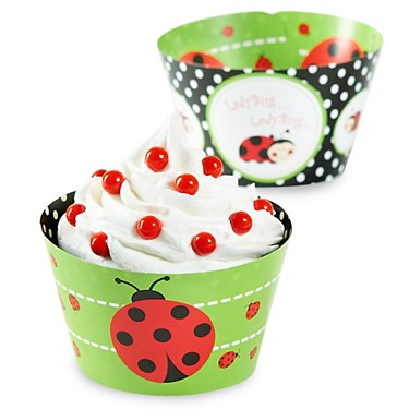 LadyBugs Reversible Cupcake Wrappers