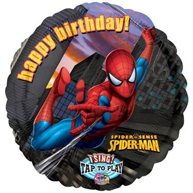 Spider-Man Birthday Singatune Foil Balloon
