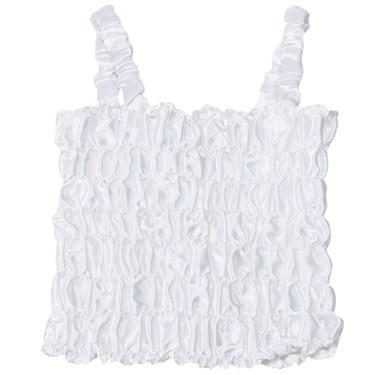 White Dress Up Tank Top