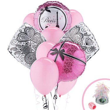 Paris Damask Balloon Bouquet