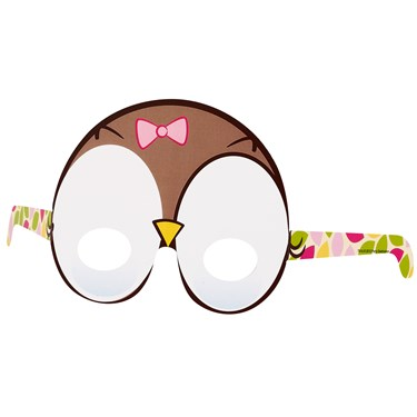 Look Whoo's 1 Owl Pink Paper Masks