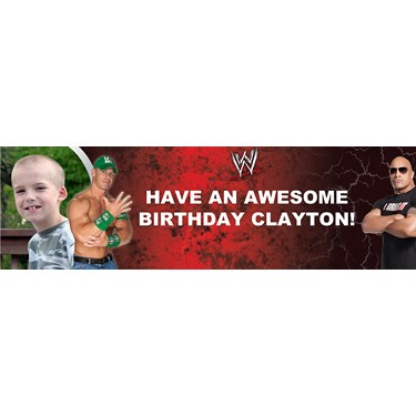 WWE John Cena vs. The Rock Personalized Photo Banner