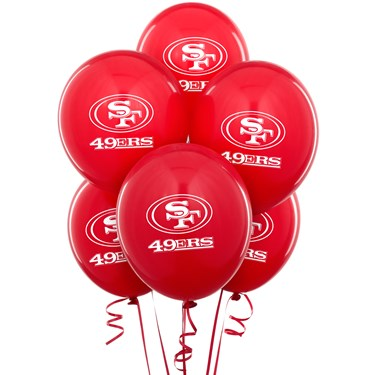 San Francisco 49ers Latex Balloons