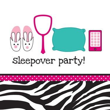 Pink Zebra Boutique Sleepover Lunch Napkins