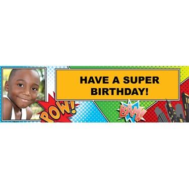 Superhero Comics Personalized Photo Banner