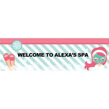 Little Spa Party Personalized Banner