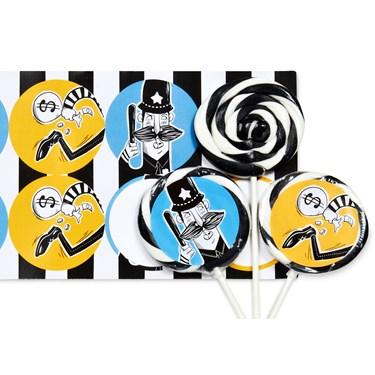 Cops and Robbers Deluxe Lollipop Favor Kit