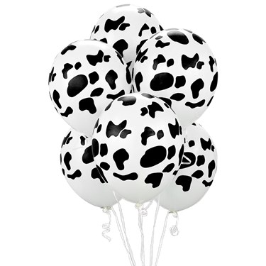 Cow Print Balloons